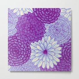 Watercolor Bouquet - Violet Metal Print
