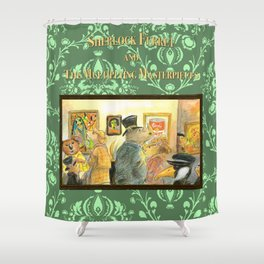 Sherlock Ferret and the Multiplying Masterpieces (cover) Shower Curtain
