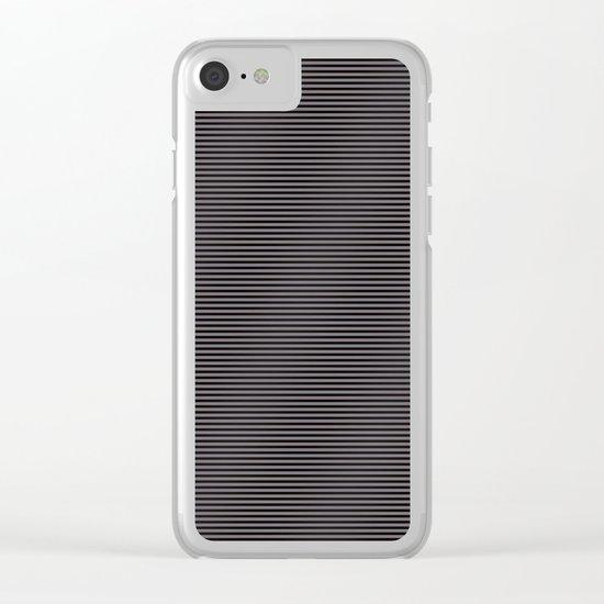 Soft Parisian Stripes Clear iPhone Case
