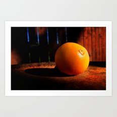 It's Not Easy Being Orange Art Print