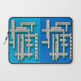 Cross Word Puzzle of Success Laptop Sleeve