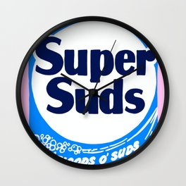 Super Suds Box of Laundry Detergent Wall Clock