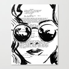 Almost Famous Screenplay Portrait Canvas Print