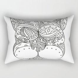 French Bulldog Doodle Art Rectangular Pillow