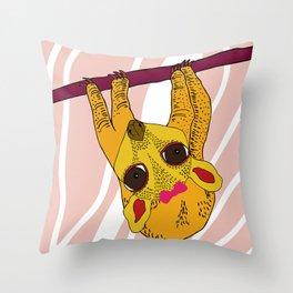 Sugar Sloth Throw Pillow