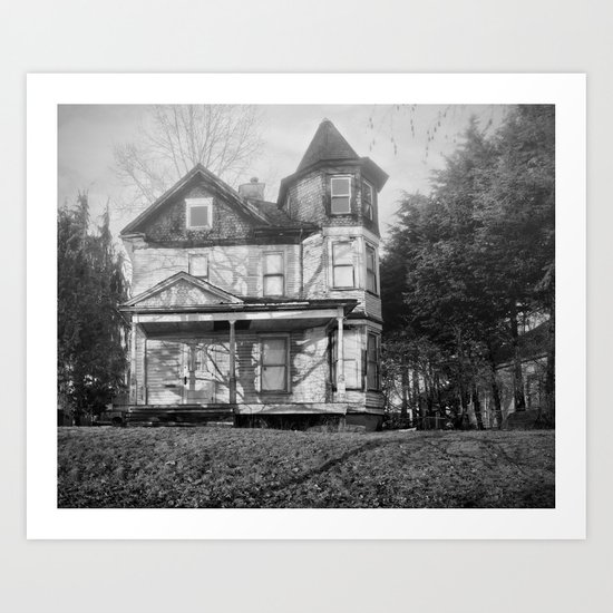 ghost house Art Print