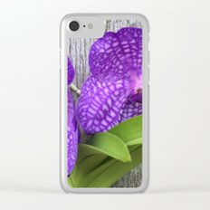 Tree Orchid Clear iPhone Case