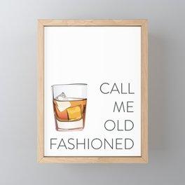 Call Me Old Fashioned Framed Mini Art Print