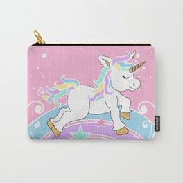 Starry Rainbow Unicorn Carry-All Pouch
