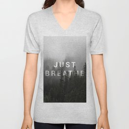 Just Breathe Unisex V-Neck