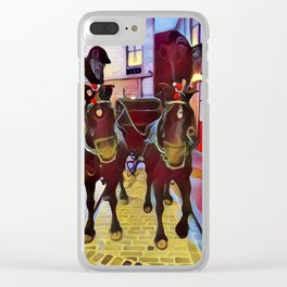 Ceremonial horses Clear iPhone Case