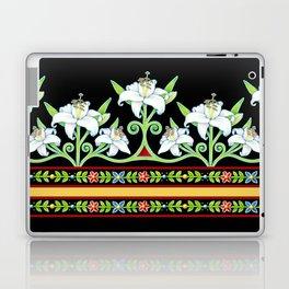 Elizabethan Lily Folkloric Stripe Laptop & iPad Skin
