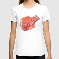 meat T-shirts featuring Meat by Adriana de Barros