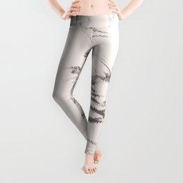 I See Beauty - Warm Black & White Leggings