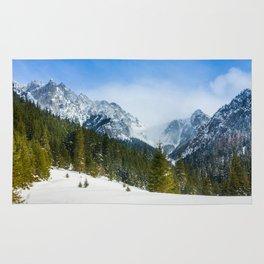 Winter Tatra Mountains Rug