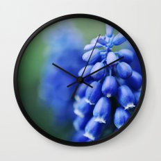 Grape Hyacinths Wall Clock