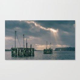 Cardiff Bay god rays Canvas Print