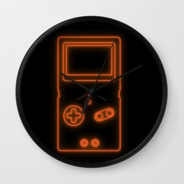 Neon Game Boy Advance SP Wall Clock