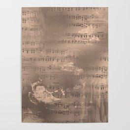 Sheet Music - Mixed Media Partiture #2 Poster