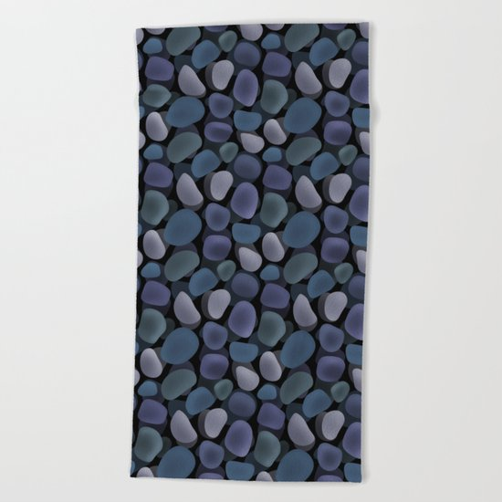 Abstract pattern . Sea stones .1 . Beach Towel