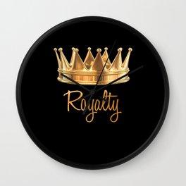 Royalty Gold Crown Wall Clock