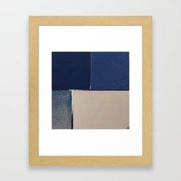 Toned Down Denim Framed Art Print