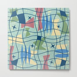 Mid Century Modern Abstract Pattern 675 Metal Print