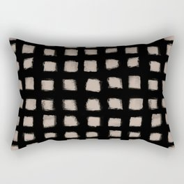 Form Square Polka Dot Tight Nude On Black Rectangular Pillow