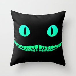 Cheshire black smile Throw Pillow