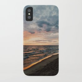 Vibrant Sunset on Lake Michigan iPhone Case