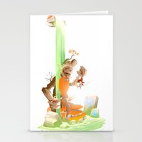 hero Stationery Cards featuring Hero by Kristoffer Vela