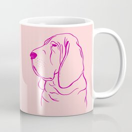 Bloodhound (Pink and Pink Violet) Coffee Mug