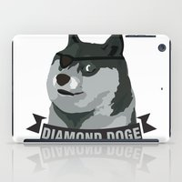 doge iPad Cases featuring DIAMOND DOGE by MDRMDRMDR