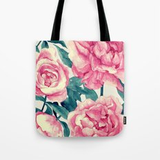 Peonies (soft tone) Tote Bag