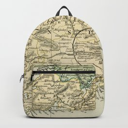 Vintage and Retro Map of Southern Ireland Backpack