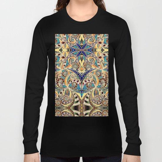 Drawing Floral Zentangle G240 Long Sleeve T-shirt