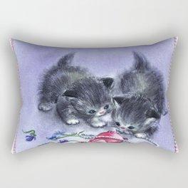 Vintage Kittens Antique Pearls Rectangular Pillow