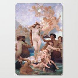 The Birth of Venus by William Adolphe Bouguereau Cutting Board