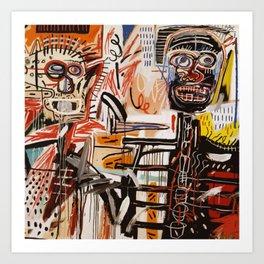 A vectorised Basquiat Art Print