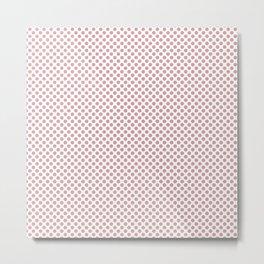 Bridal Rose Polka Dots Metal Print