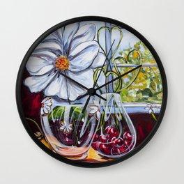Diane L-  Fleurs en coeurs Wall Clock