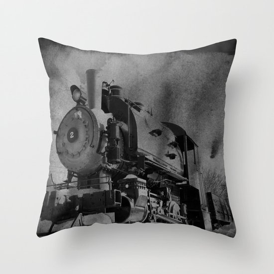 Old School Choo Choo Throw Pillow