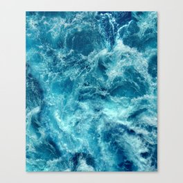 Ocean is shaking Canvas Print
