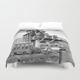 Lost Horse Gold Mill Duvet Cover