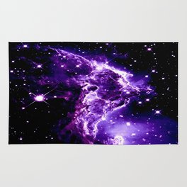 Purple Monkey Head Nebula Galaxy Space Rug