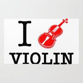 I Love Violin Rug