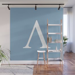 Greek letter lambda sign on placid blue background Wall Mural
