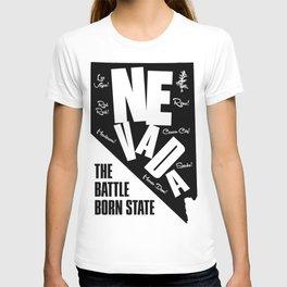 NEVADA THE BATTLEBORN STATE SUPERCOOL T-SHIRT T-shirt