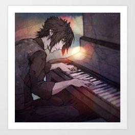 FFXV - NOCTIS on Piano Art Print