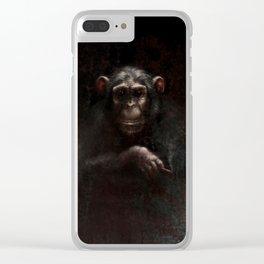 Chimpanzee II Clear iPhone Case